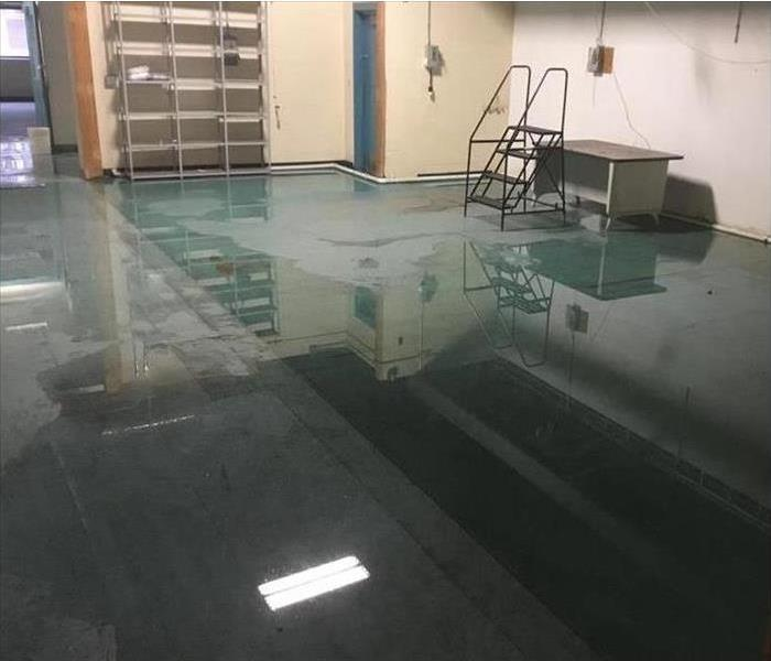 Hot Water Tank Leaks In Pineville Warehouse Before