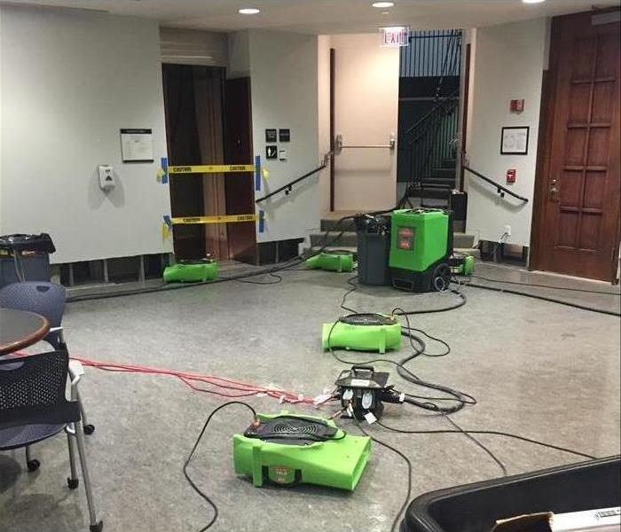 Commercial water damage at Alexandria business