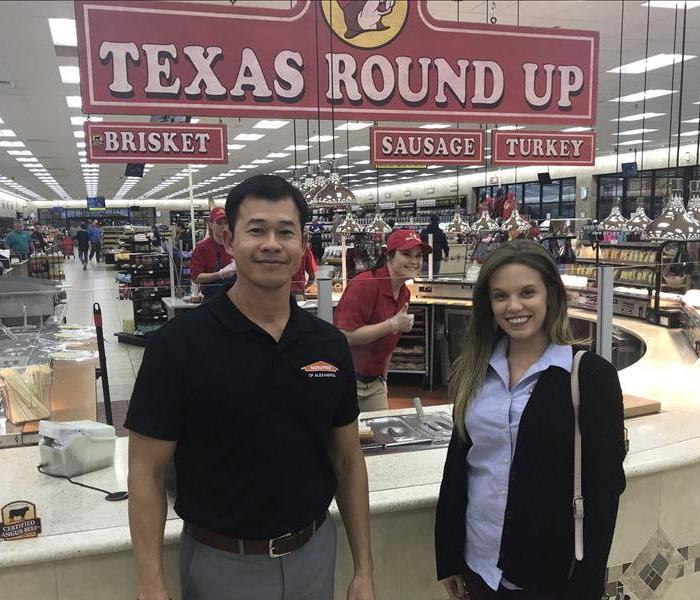 SERVPRO of Alexandria stops at Buc-ee's during storm event
